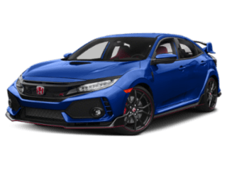 2019 Honda Civic Type R blue angled