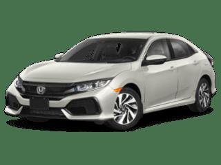honda civic hatchback silver sedan