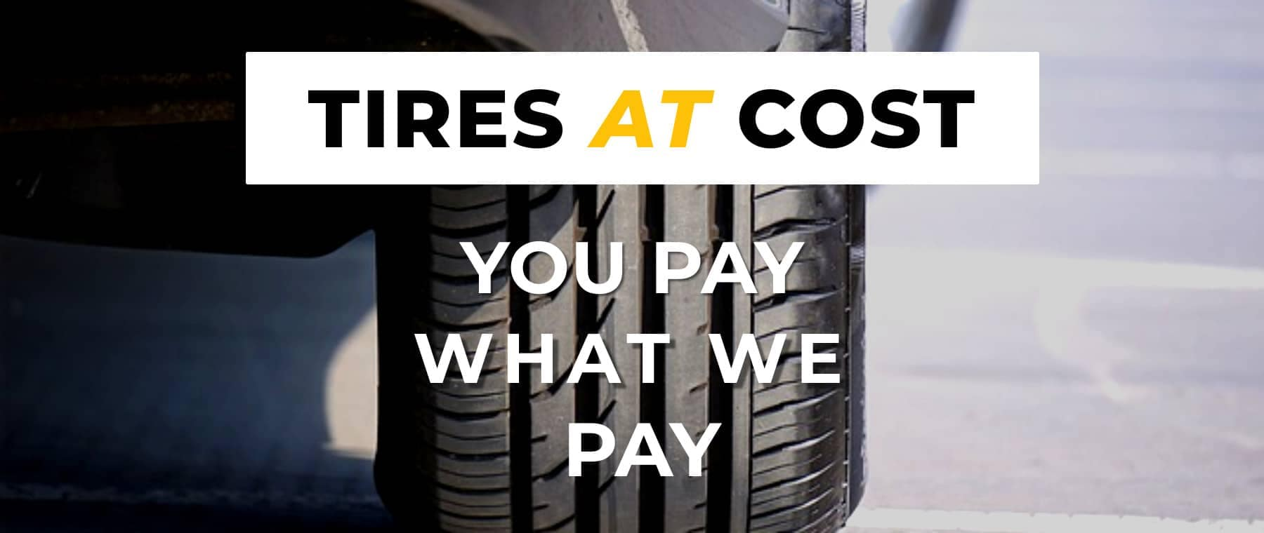 banner for tires at cost