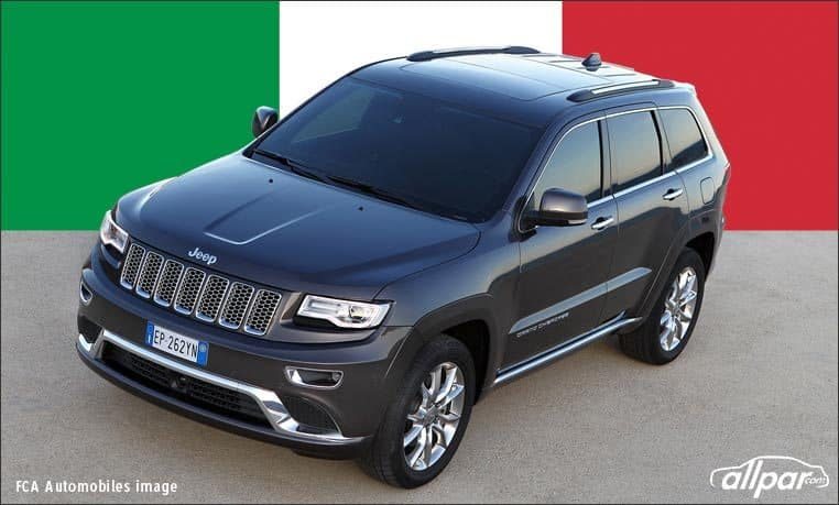 Jeep Grand Cherokee is popular in Italy