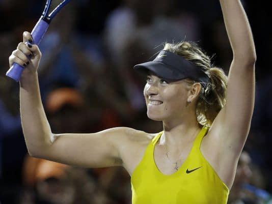 Maria celebrates a win