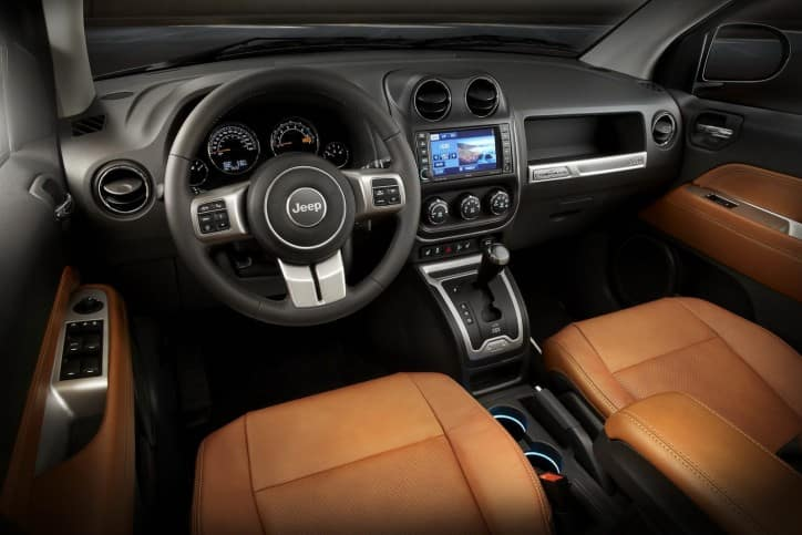 2014-Jeep-Compass-Limited-in-interior-in-Saddle-Brown