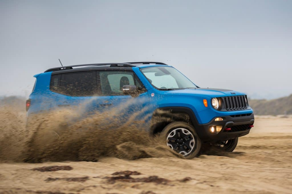 Blue - 2015 Jeep Renegade in Sand