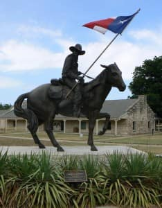 texas ranger horse flag