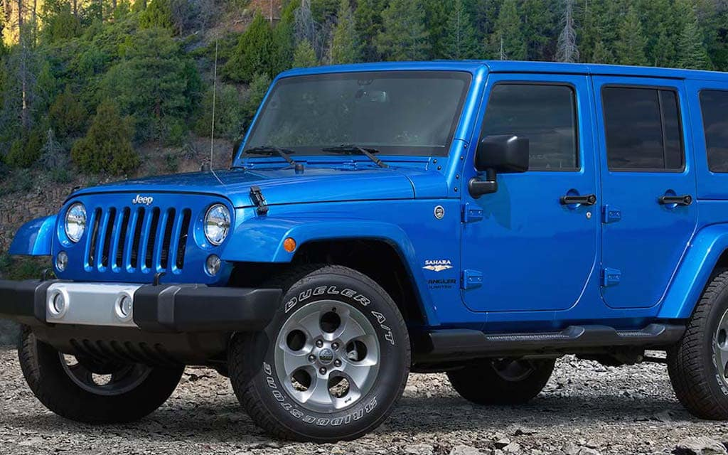 Dark Blue Jeep Wrangler Rubicon