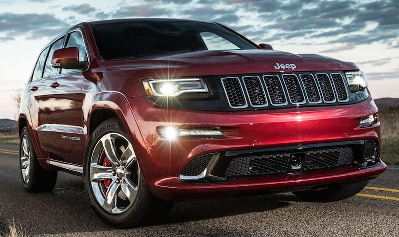 2014 SRT Grand Cherokee red