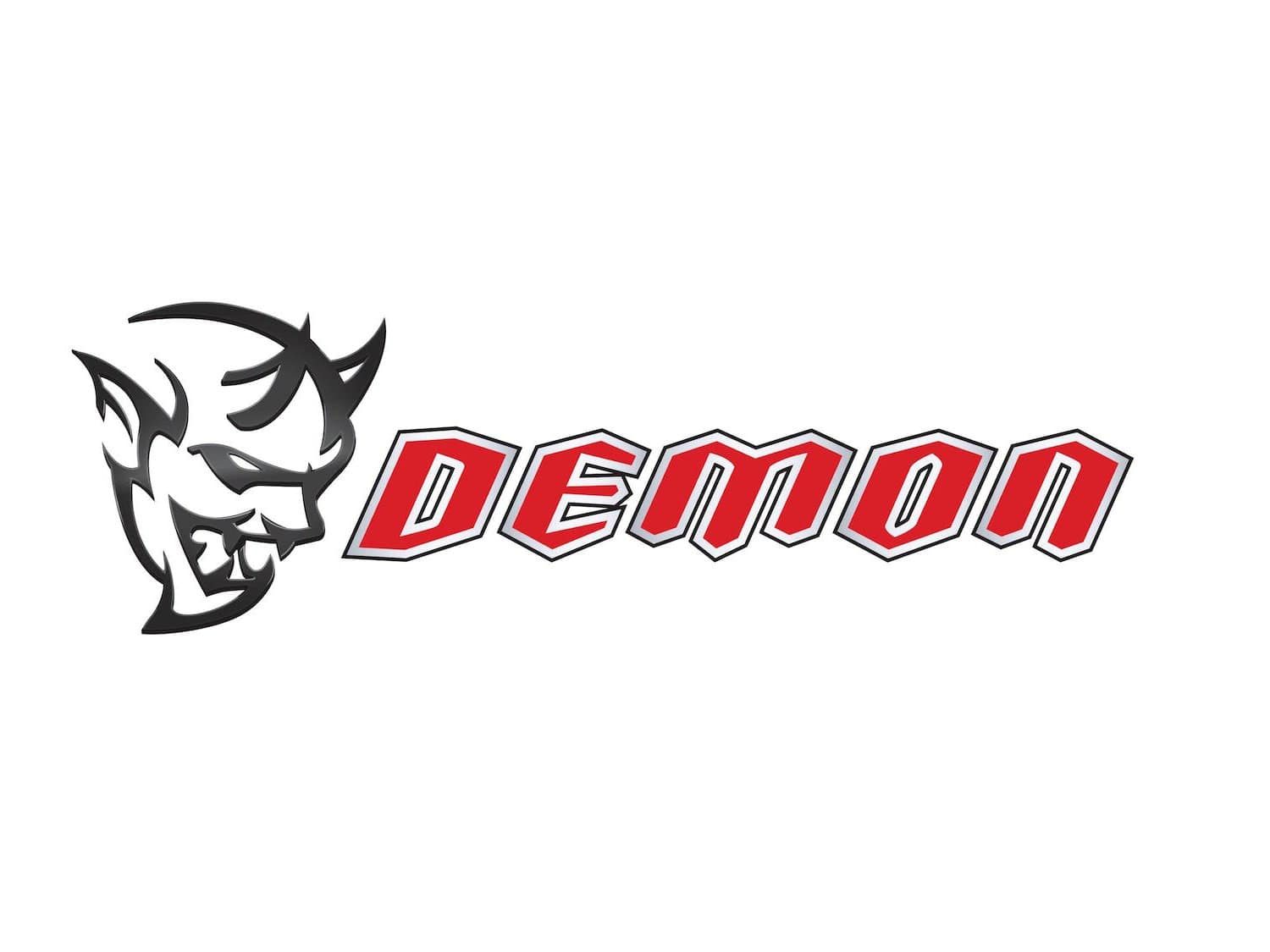 dodge demon decal White 10 By 3 Inches