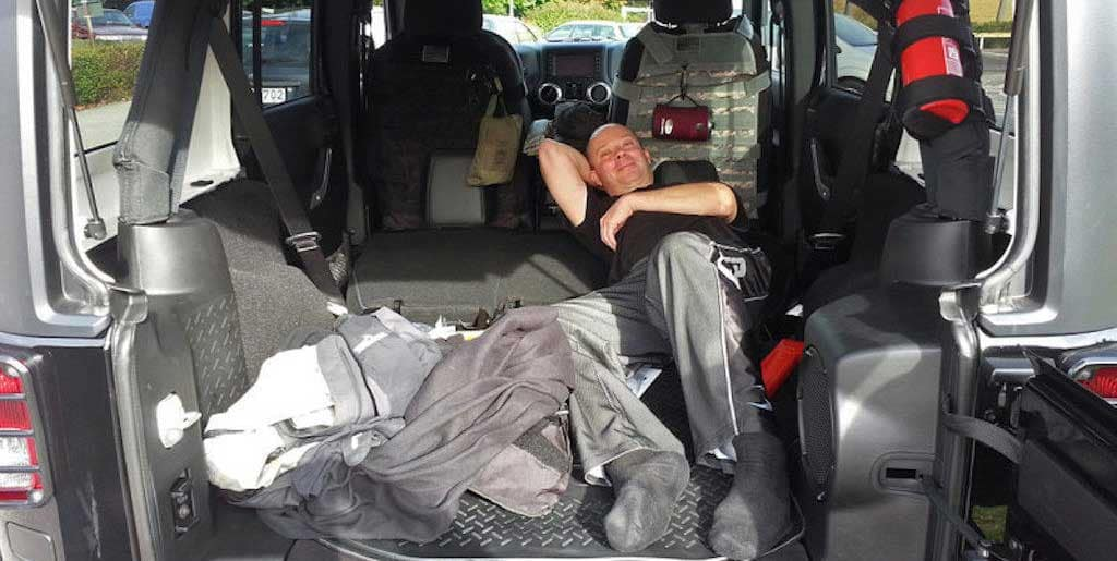 Sleeping in a Jeep