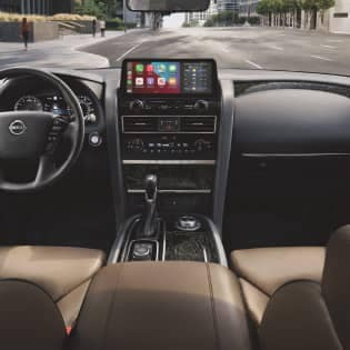 Interior of a Nissan