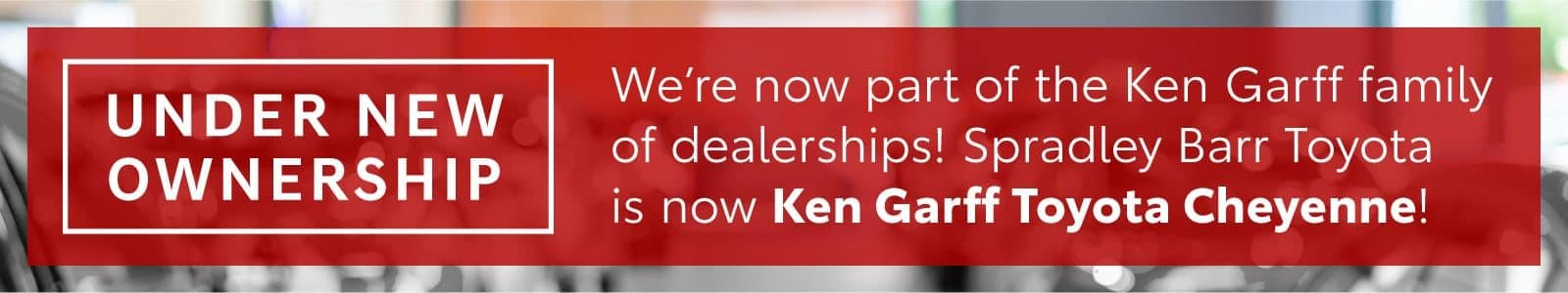 Under New Ownership Banner Mobile