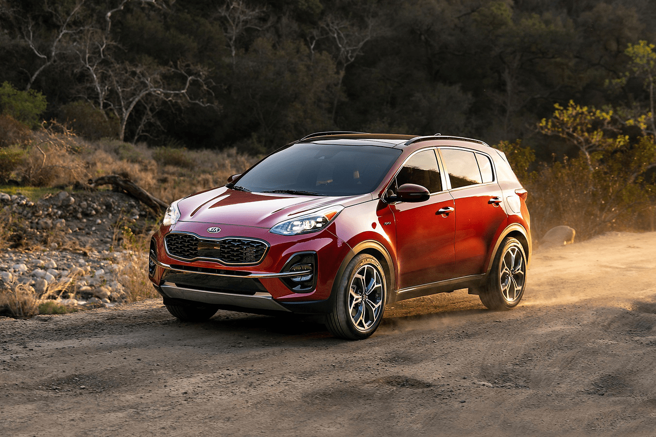 Sportage on dirt road