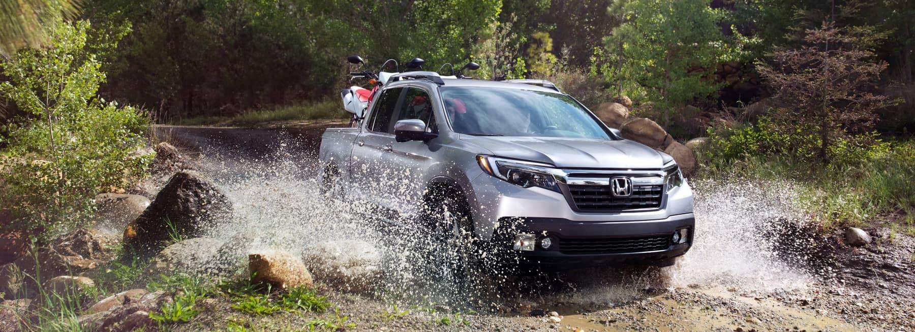 Honda Ridgeline driving through water