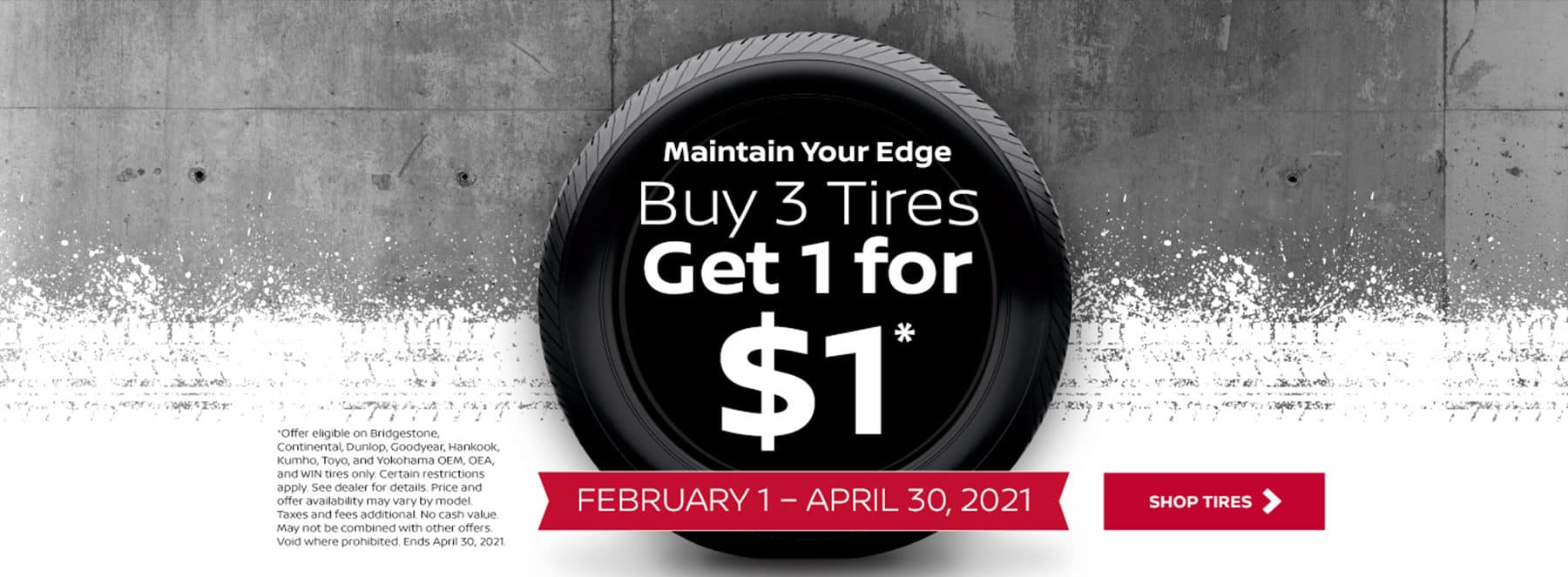 Nissan B3 Tire Offer Feb21