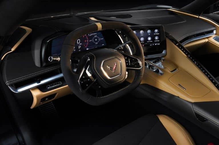 Tan Corvette dashboard