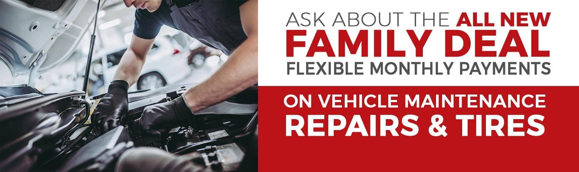 Family Deal Service Flexible Payment Plan banner