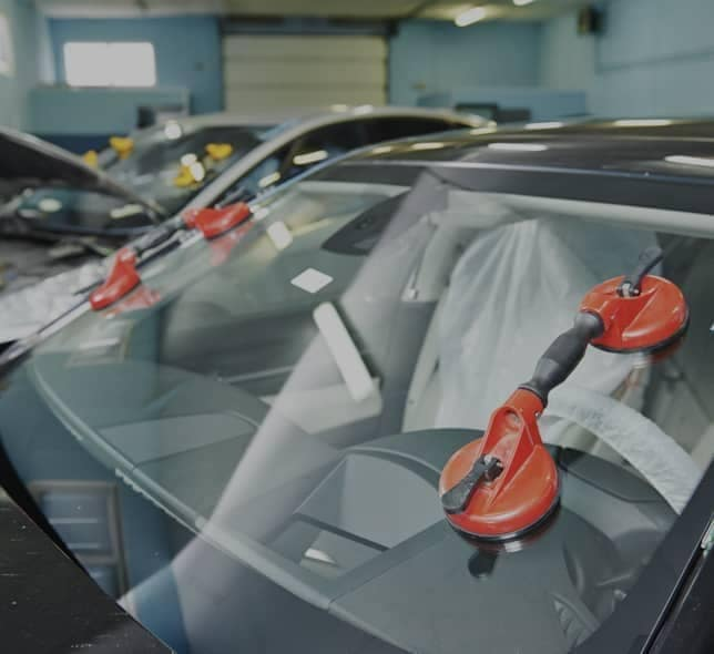 clamps are installed on car windshield