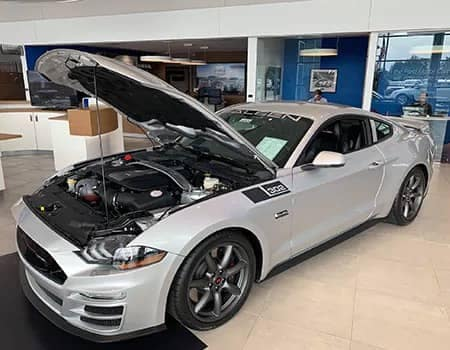 Saleen Performance Ford Mustang engine angled view