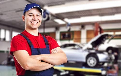 Mechanic in an auto shop