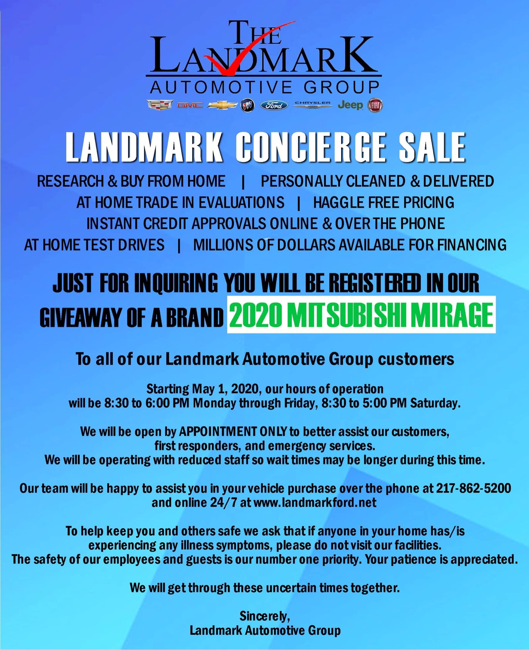 Landmark Automotive Concierge Sale