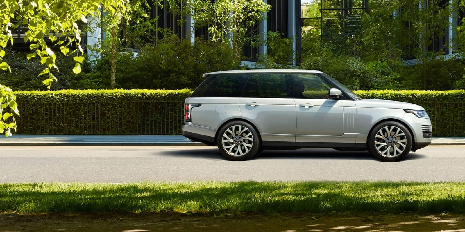 sideview of a range rover