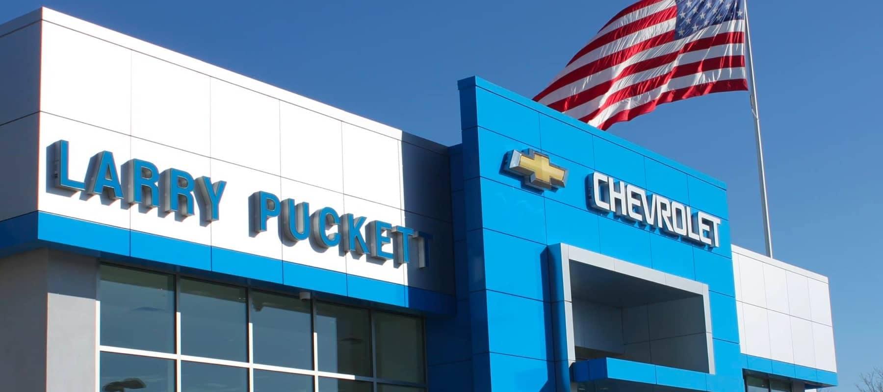 Larry Puckett Chevrolet outside of the dealership