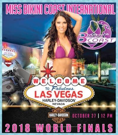 Attend the Miss Bikini Coast International 2018 World Finals at Las Vegas Harley-Davidson