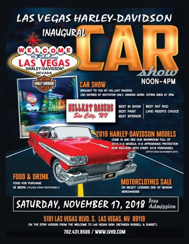 Don't Miss the Inaugural Las Vegas Harley-Davidson Car Show