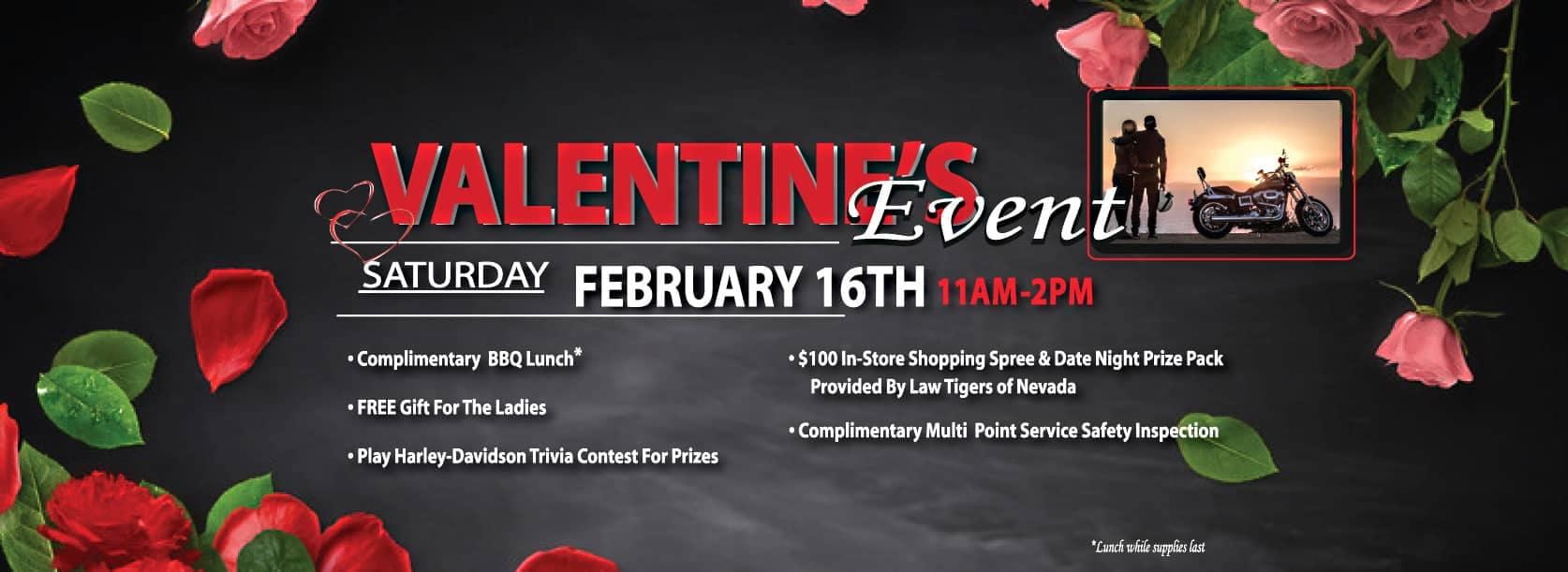 Take Advantage of Las Vegas Harley-Davidson's Valentine's Day Specials