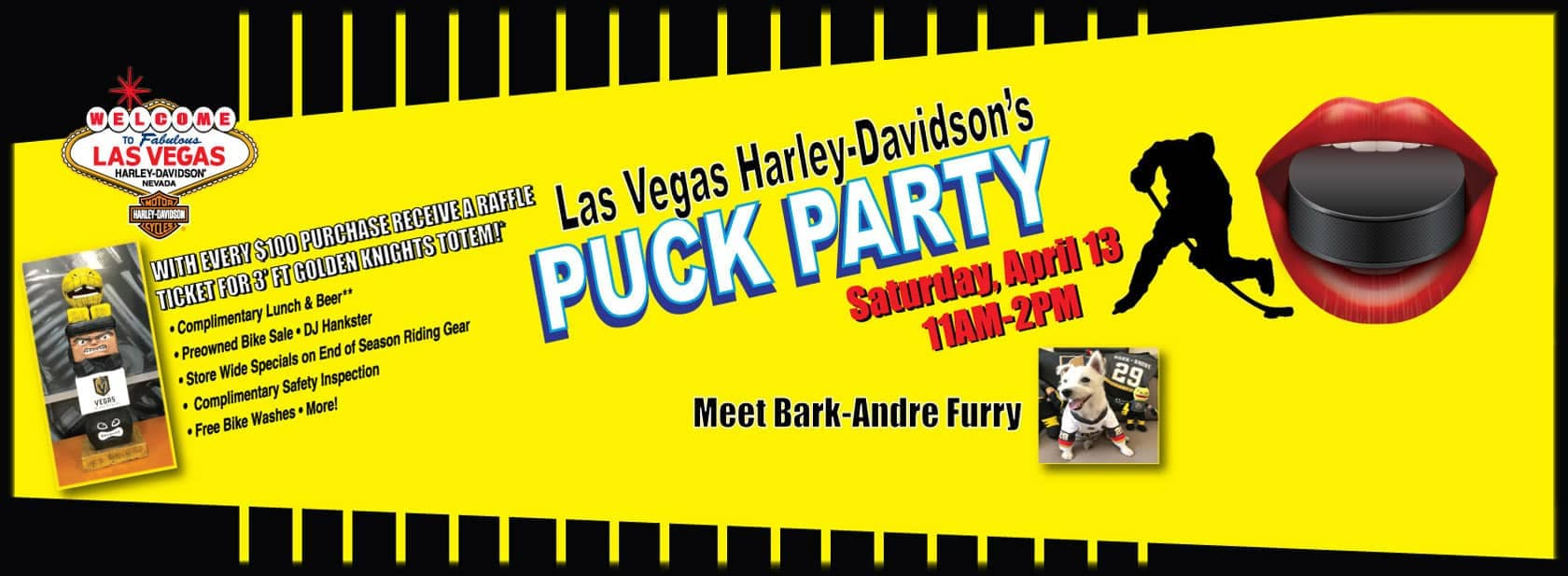 Don't Miss the Puck Party on April 13th at Las Vegas Harley-Davidson