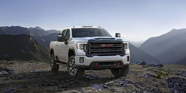 GMC Sierra on mountain