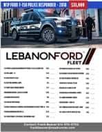 2018 F-150 Responder Price List