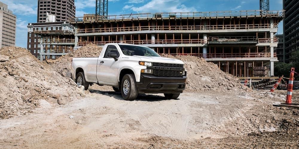truck on job site