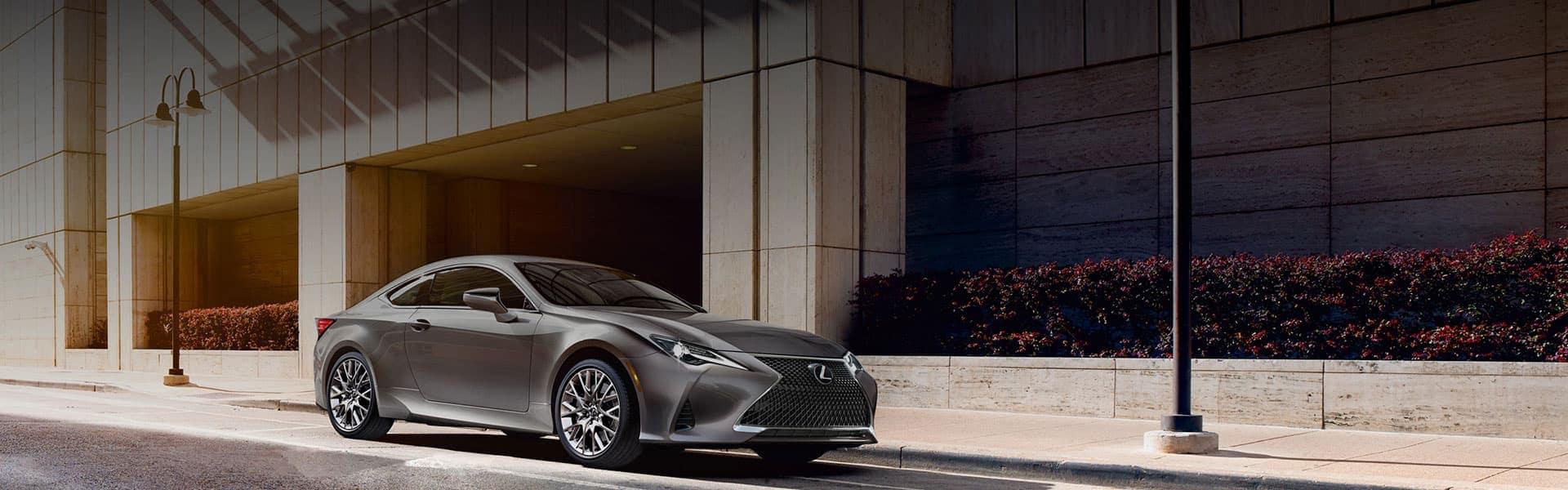 Lexus El Cajon welcome slider image - Lexus sedan parked outside a building in the city