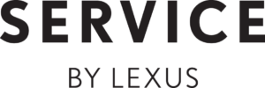 Service by Lexus logo black