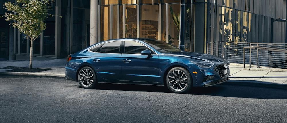 2020 Hyundai Sonata parked safely on city street