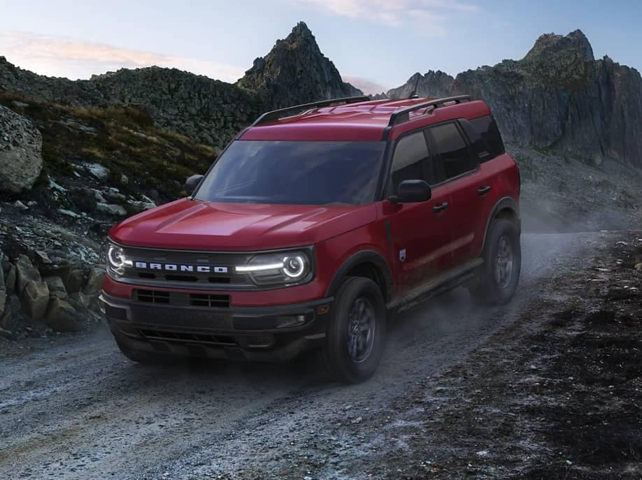2021 Ford Bronco Sport driving down mountain
