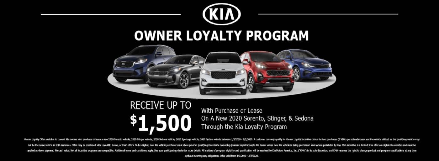 Kia Owner Loyalty Program banner