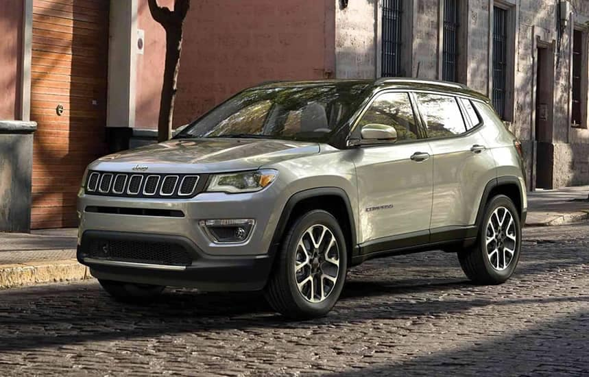 Jeep Compass parked on street