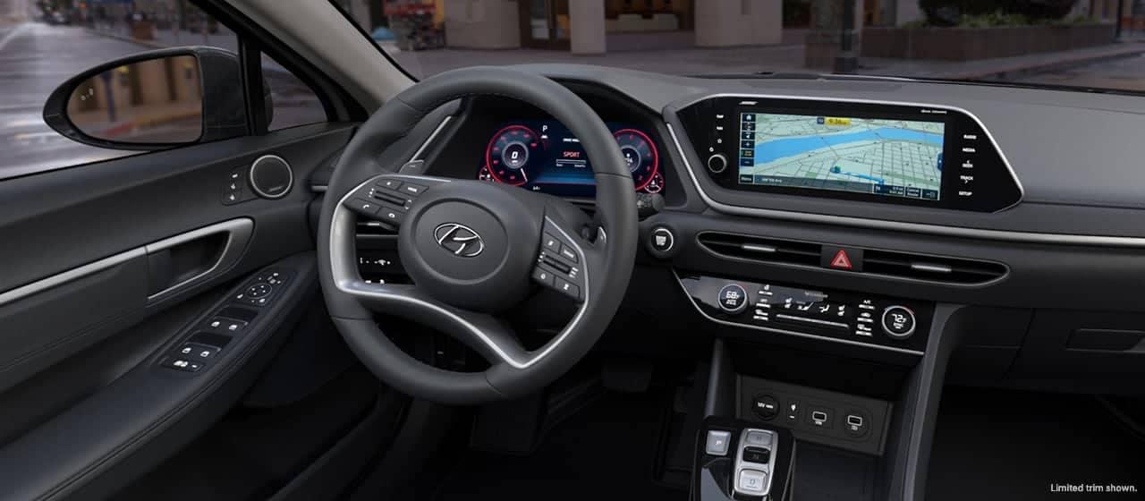 2020 Sonata limited interior front cabin