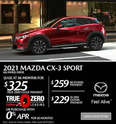 cx3 sport lease special