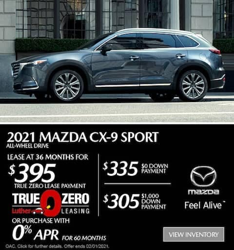 cx9 lease special