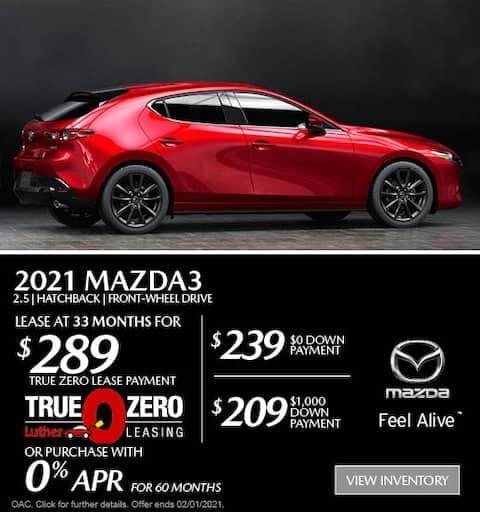 mazda3 hatchback lease special