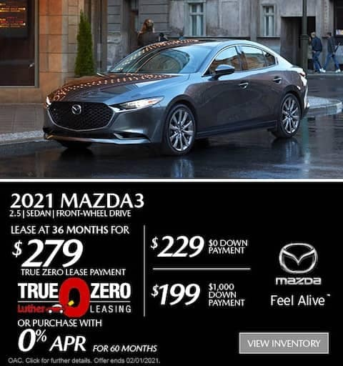 mazda3 sedan lease special