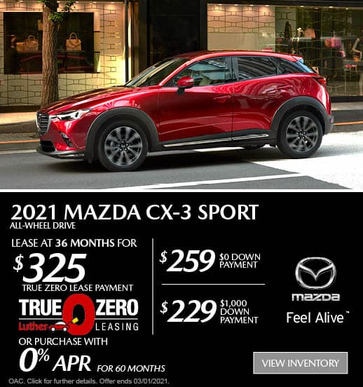 CX-3 Lease Special