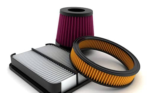 three different types of air filters