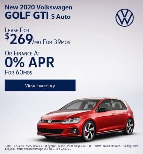 VW Specials - New 2020 Volkswagen Golf GTI S Auto