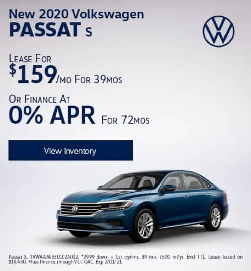 VW Specials - New 2020 Volkswagen Passat