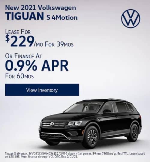 VW Specials - New 2020 Volkswagen Tiguan S 4Motion