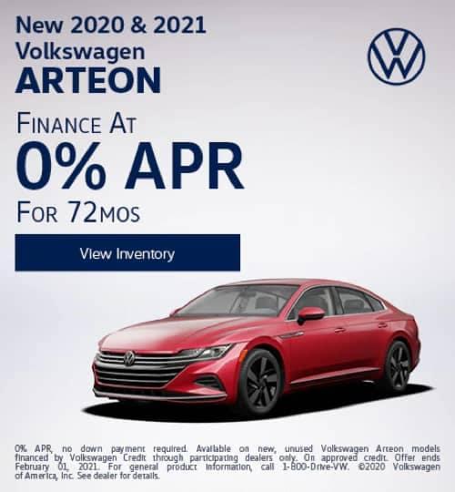 VW Specials - New 2020 and 2021 Volkswagen Arteon S