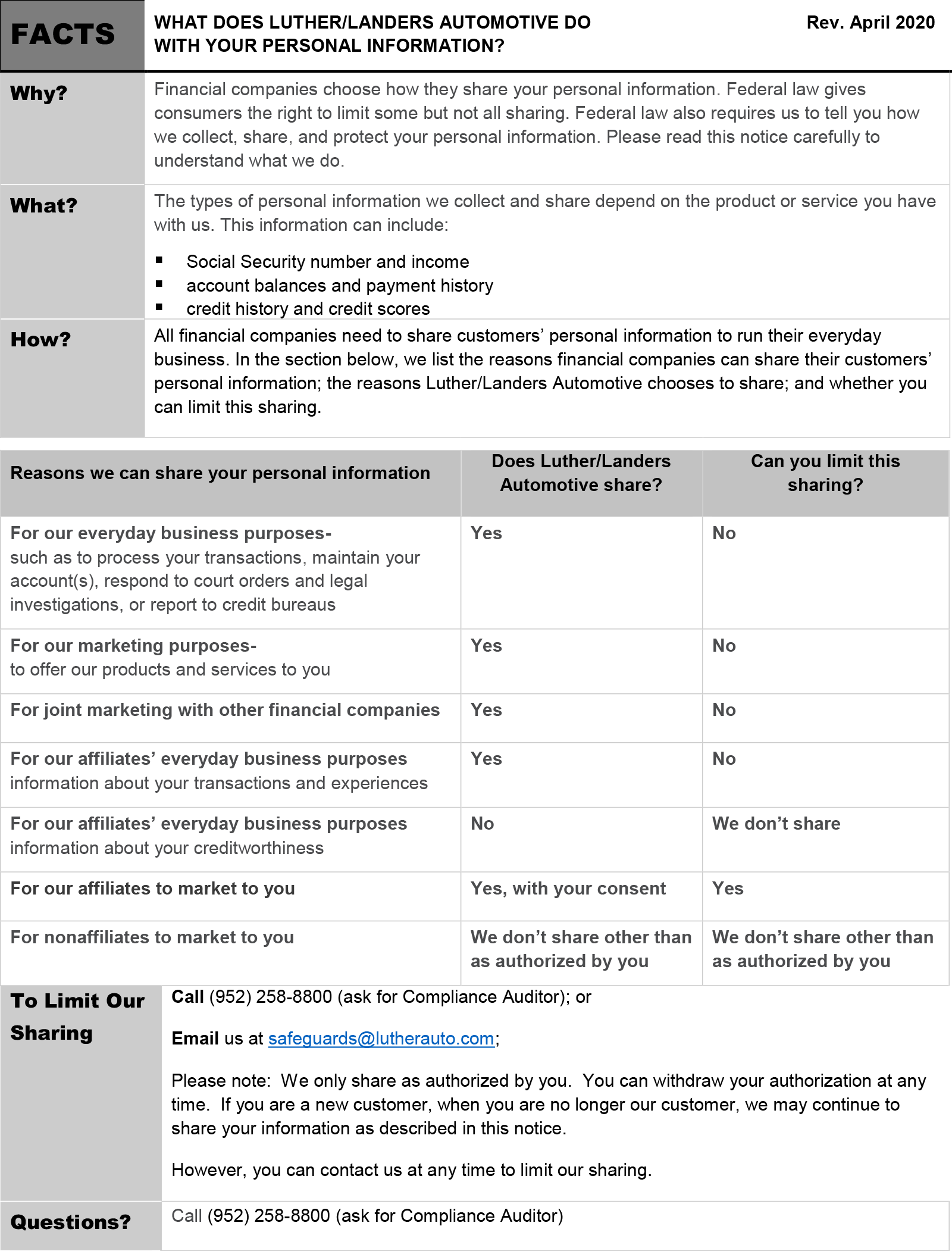 Financial-Notice-April-2020-Page-1-Luther-Landers-Automotive-